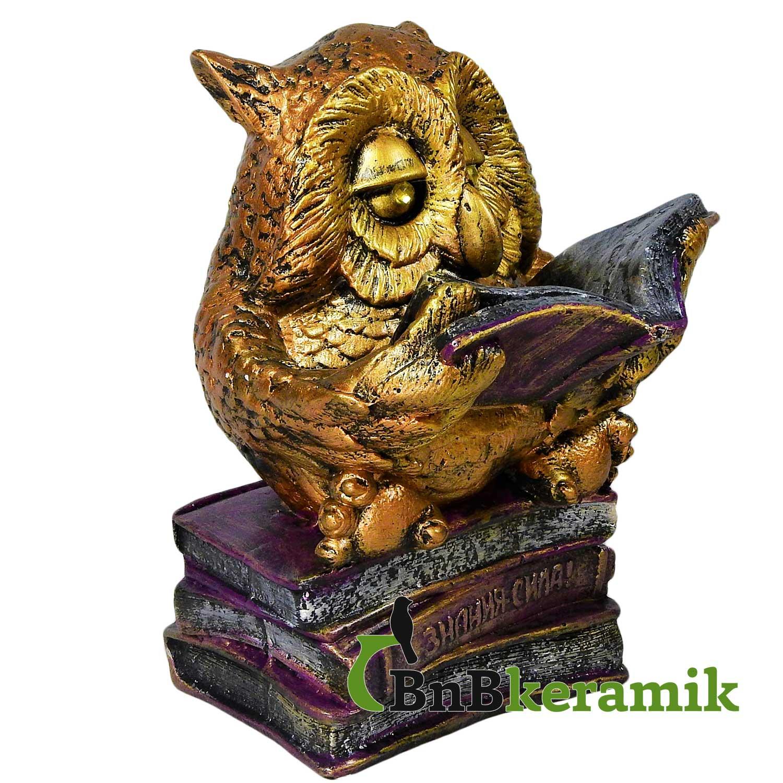 """Фигурка для сада """"Сова с книгой"""" от BnBkeramik"""